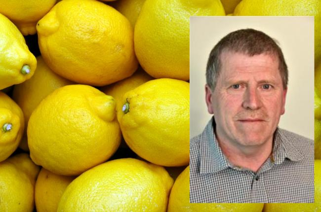 Councillor John Cole, right, who said climate change would offer a change to grow oranges and lemons in Pembrokeshire.
