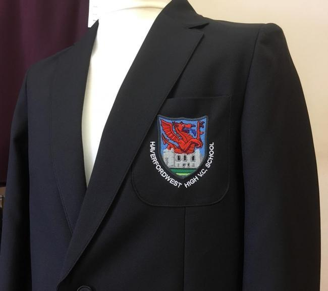 Plans for new uniform items at Haverfordwest High VC School have been changed. PICTURE: Tees R Us.