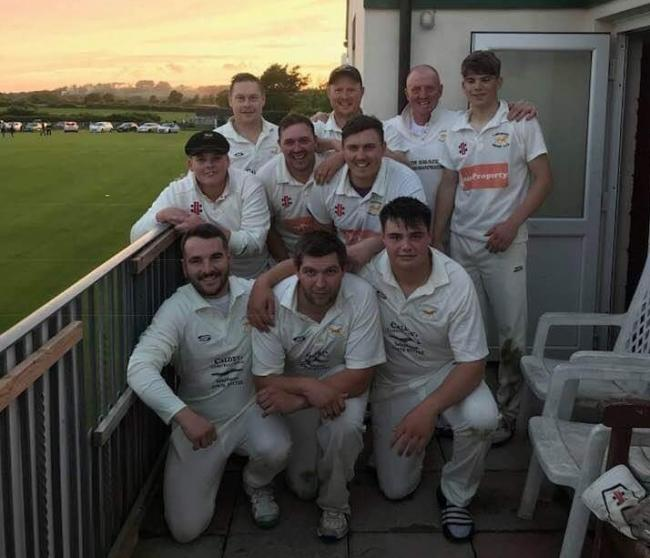 Lawrenny after their win. PICTURE: Club sponsor Sion Brace.