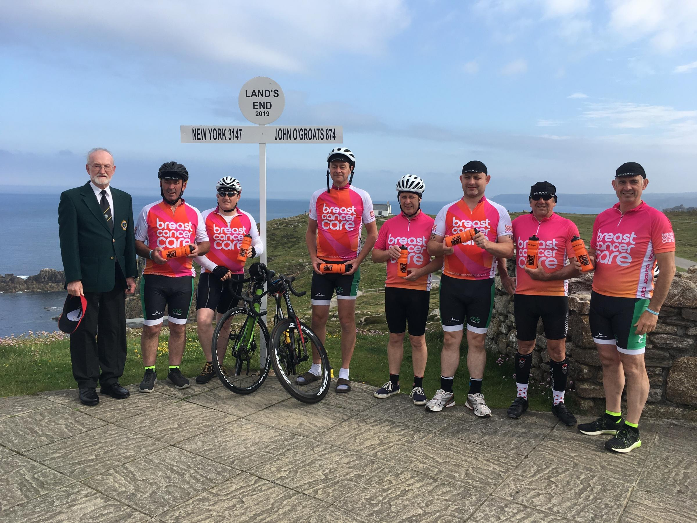 Whitland Male Choir's 360-mile cycle challenge is raising money for Breast Cancer Care