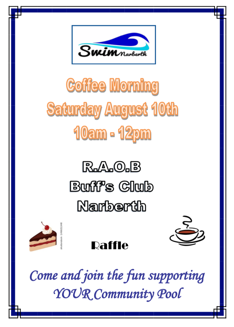 ☕️Coffee morning with raffle raising funds for SwimNarberth