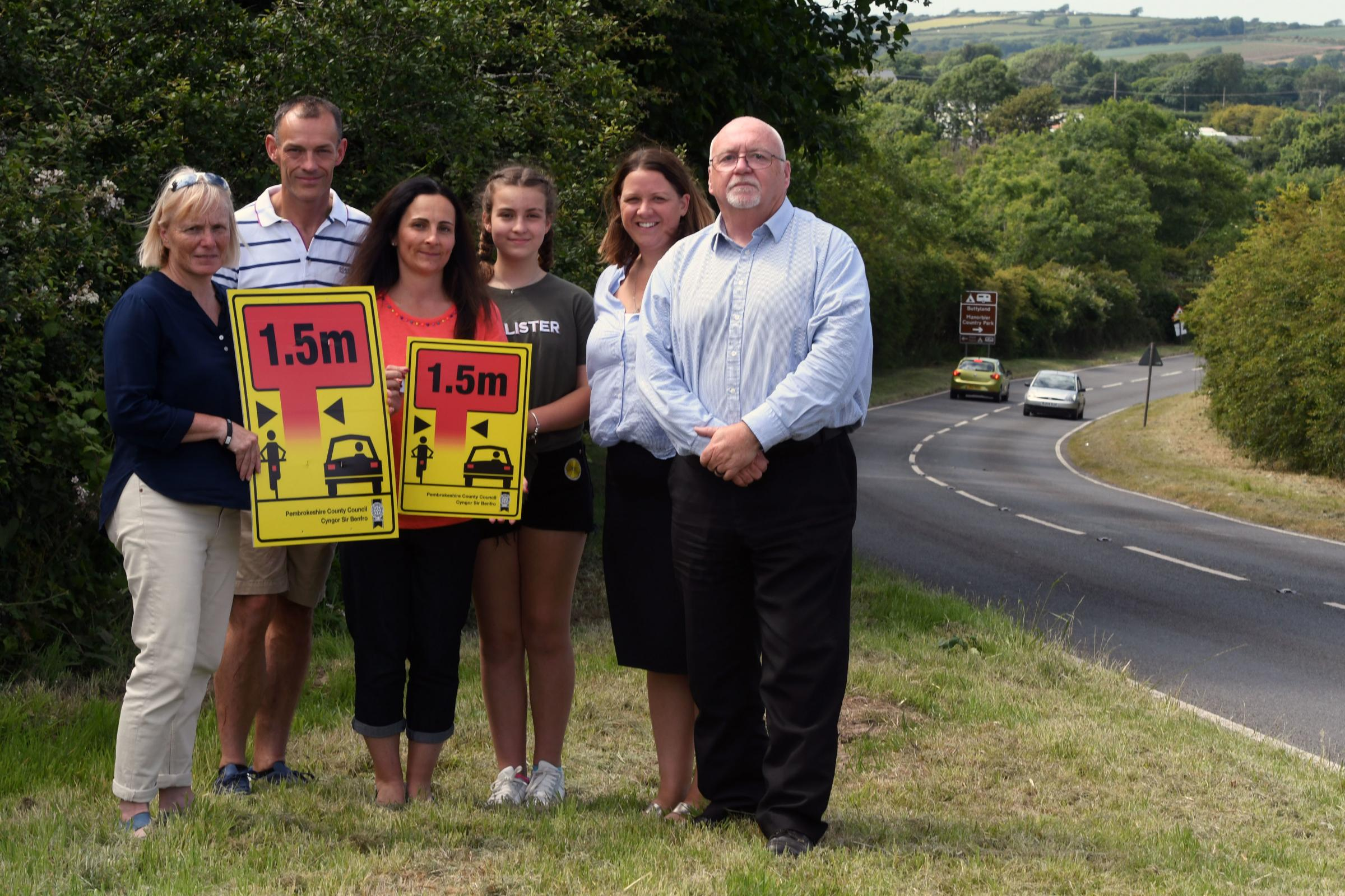Keep your distance! Pembrokeshire campaign urges drivers to give cyclists a wide berth