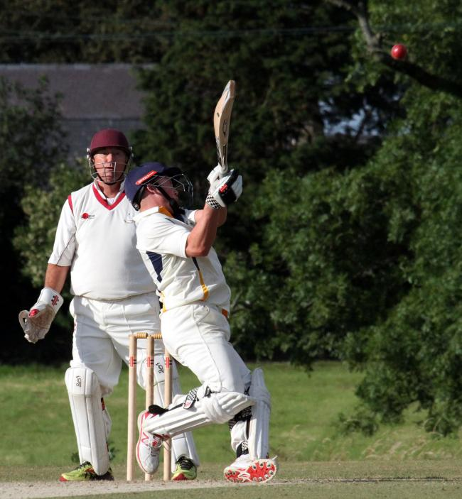Toby Poole hits a boundary in his 91 not out. PICTURE: Susan McKehon.