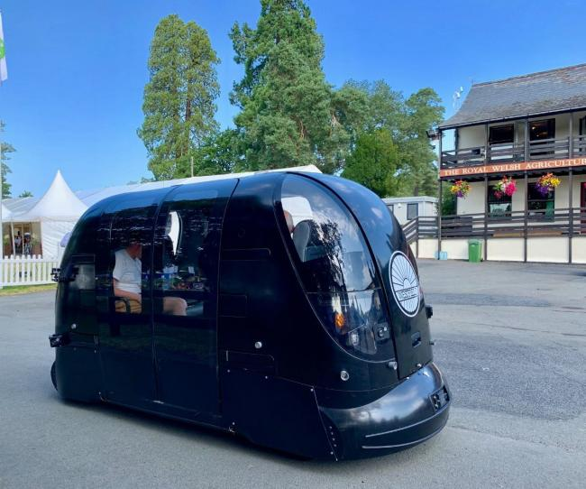 The benefits of future technology demonstrated with a 5G-connected driverless pod at the  Royal Welsh Show. PICTURE: BT