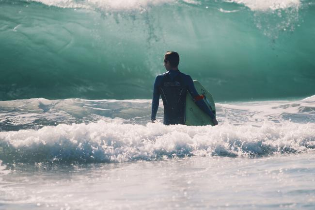 The mystery surfer pulled young Isabel from a rip tide at Manorbier. PIC: Pixabay