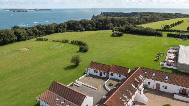 Celtic Haven has stunning views towards Caldey Island.