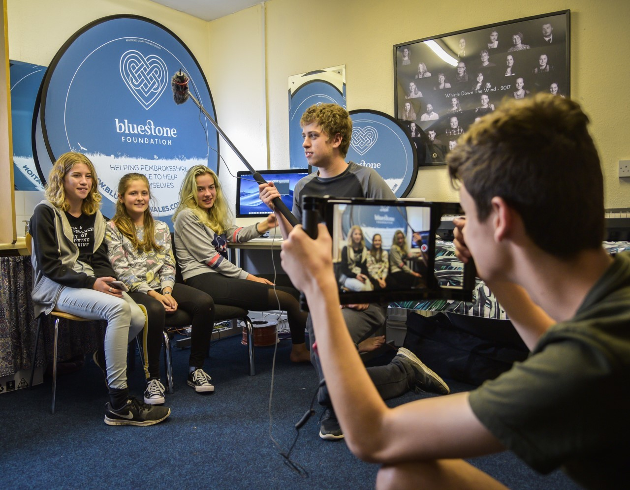 Bluestone Foundation and Ffilm Cymru funding enables Theatre Gwaun's Re:Action film making education project