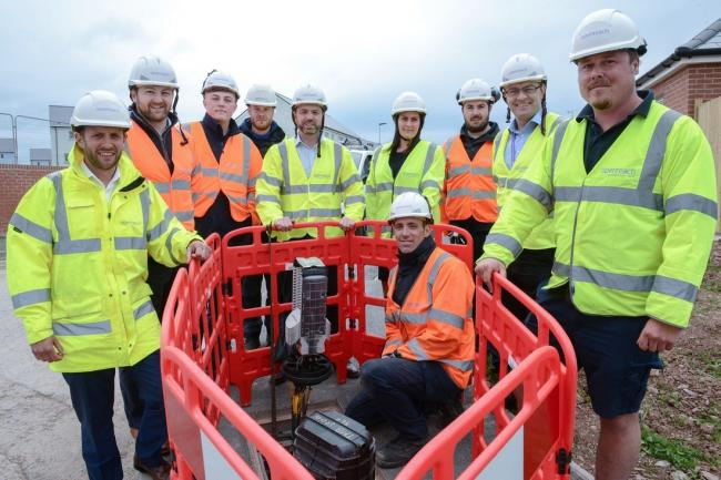 Stephen Crabb MP with Openreach engineers