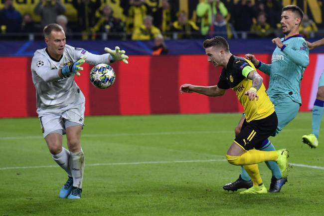 Marc-Andre Ter Stegen produced a remarkable double save following a penalty