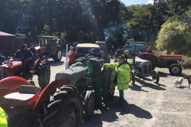The Llandysul tractor run