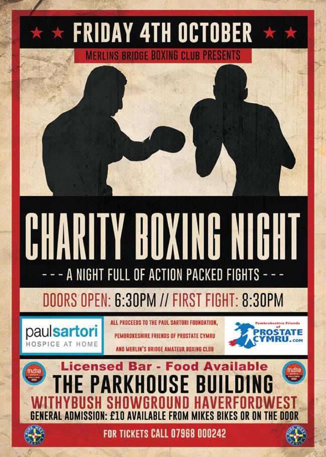 Charity Boxing event will take place in Haverfordwest.