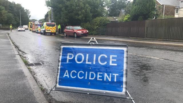 Emergency services called to moped crash
