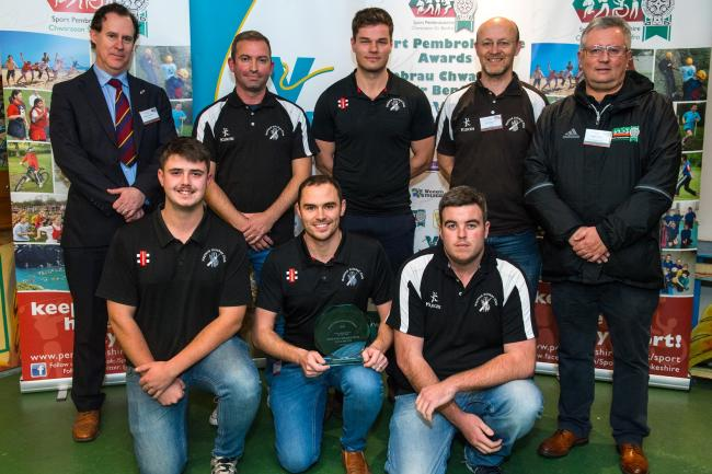 Pictured are members of Neyland Cricket Club, last year's winners of Team Achievement of the Year.