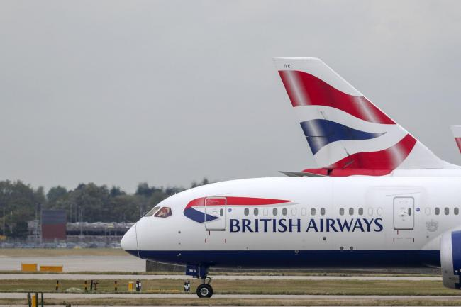 British Airways planes at Terminal Five at Heathrow Airport