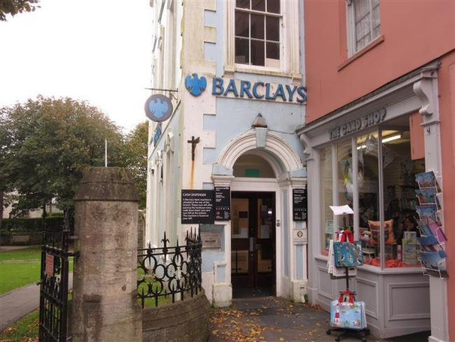 Barclays Bank in Tenby's High Street.