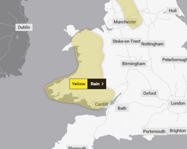Weather warning issued PICTURE: The Met Office