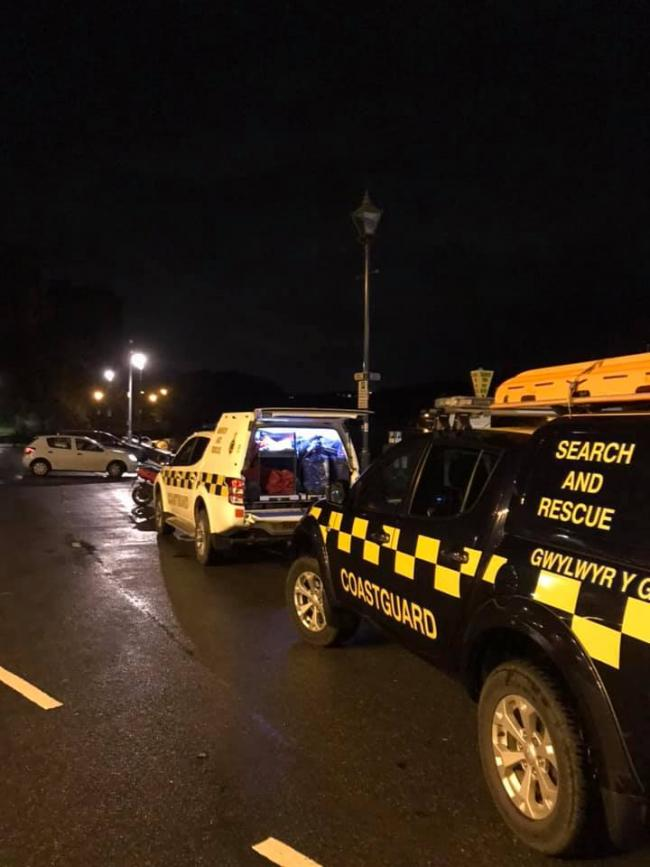 Emergency services were called to Pembroke Millpond. PICTURE: HM Coastguard, Tenby