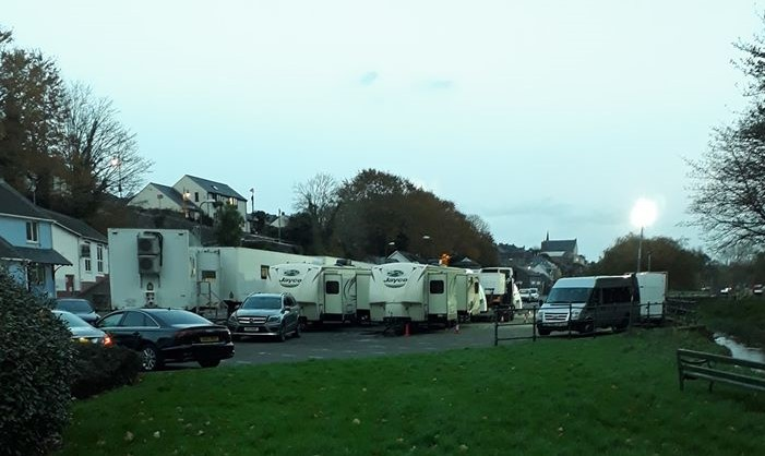 Filming at Pembroke Castle believed to be for major TV series