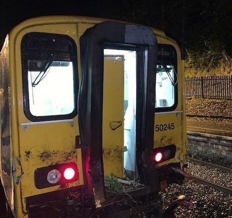 Railway line, closed after train collided with tree, now reopen