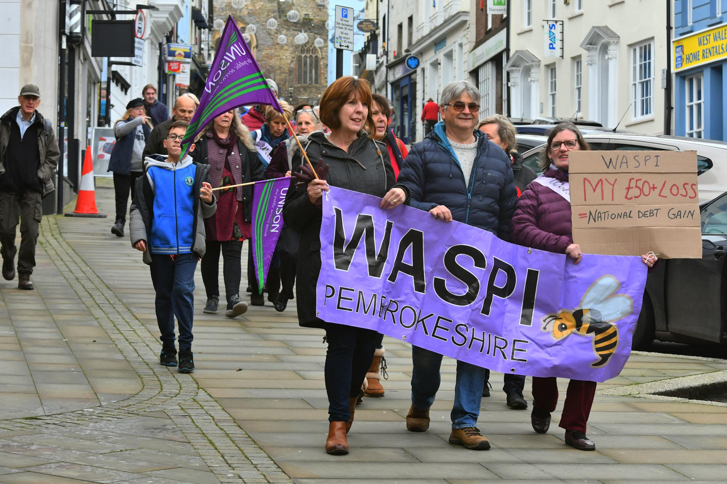 Pembrokeshire WASPI take pension fight to heart of General Election campaign