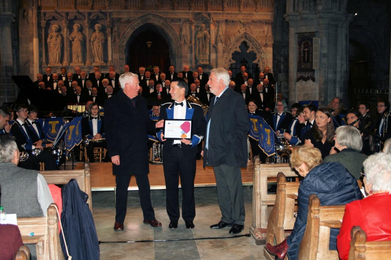 Strumble Lodge Freemason's £2,500 to Goodwick Brass Band