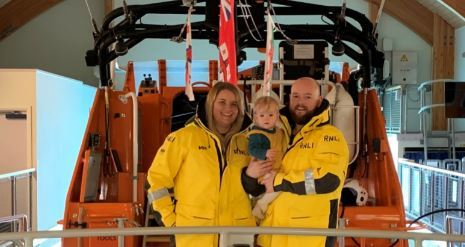 St Davids RNLI volunteers and new parents may decide festive duty on a coin-toss