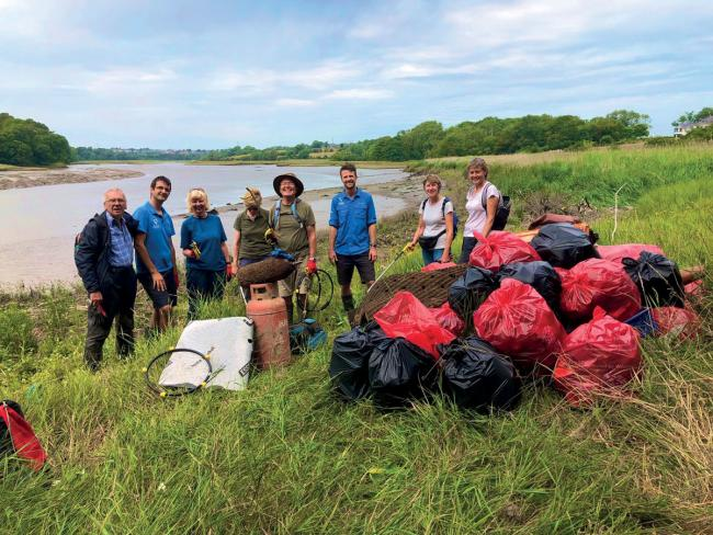 91 volunteers spent over 500 hours picking 256 bags full of litter along the banks of the Cleddau rivers as part of the National Park Authority's Big River Clean project.