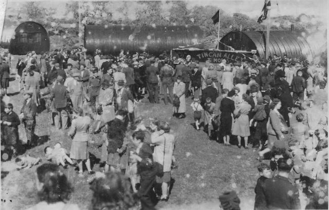Well over 6,000 people attended a Gala Day at Hill Farm, Pembroke Dock, which brought to a resounding climax the VE-Day celebrations in May 1945.
