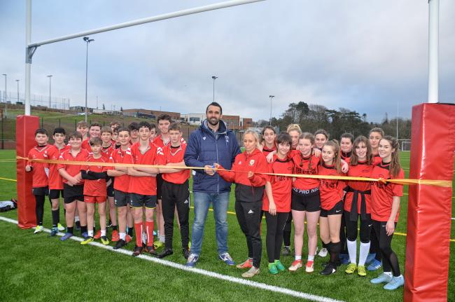 The recent opening of the new 3G pitch at Henry Tudor School.