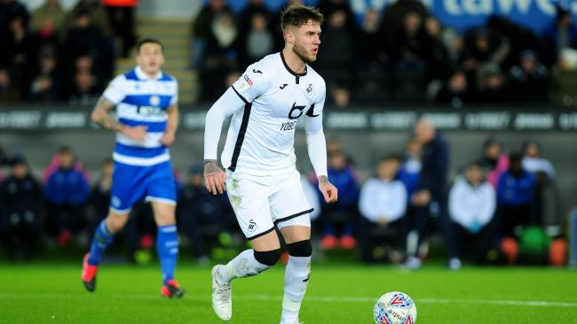 Joe Rodon was watched by Wales manager Ryan Giggs. PICTURE: PA Wire.