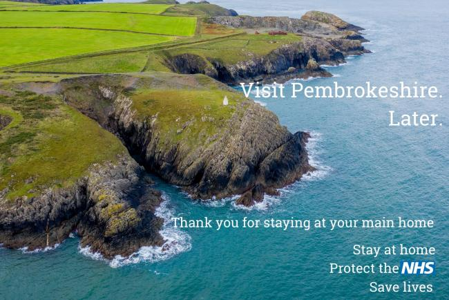 Visit Pembrokeshire's stay home message