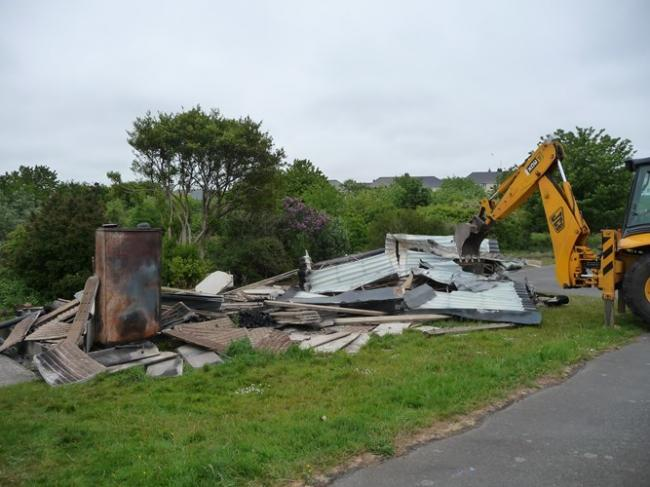 The building has had to be demolished
