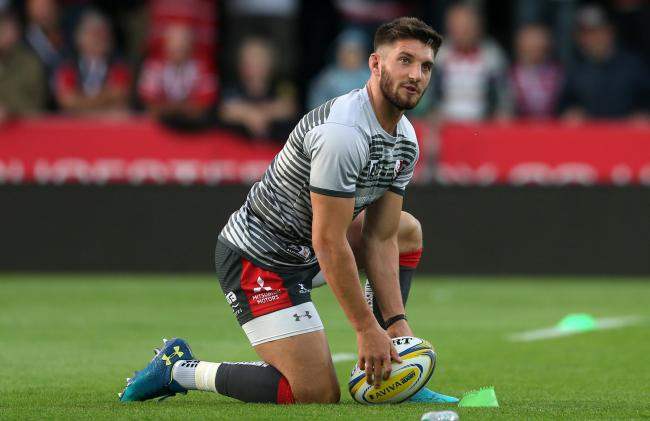 23.08.18 - Gloucester Rugby v Dragons - Pre Season Friendly - Owen Williams of Gloucester during the warm up..