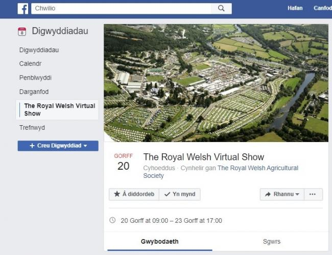 Join the virtual Royal Welsh Show on Facebook