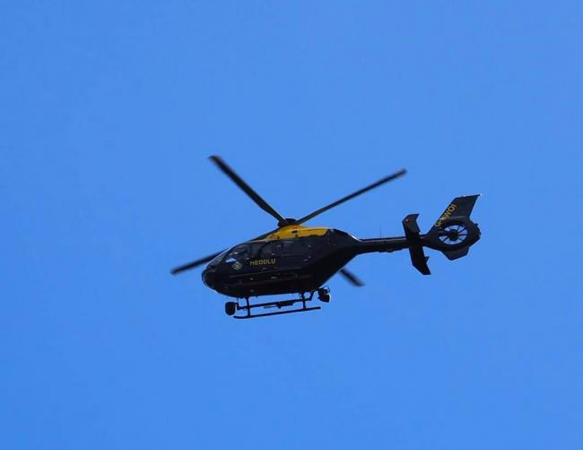 A police helicopter has been seen over Kilgetty