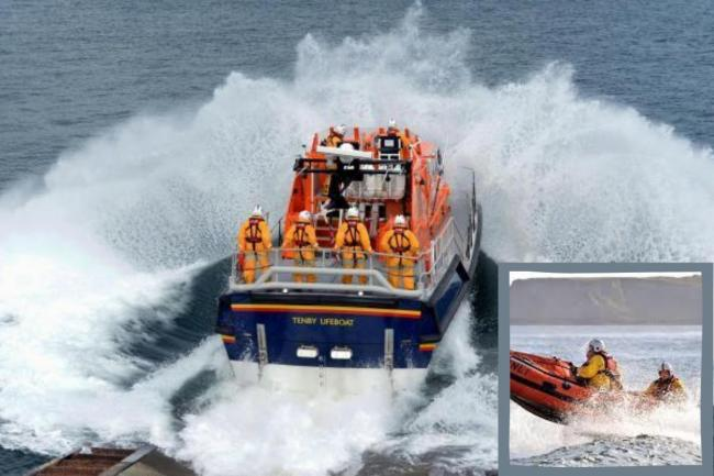 Both Tenby's lifeboats were launched. Pictures: Gareth Davies Photography