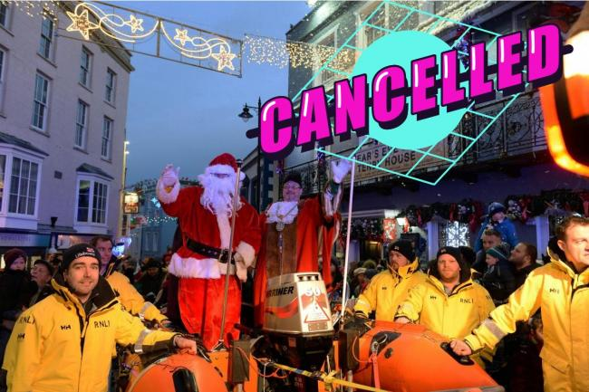 Father Christmas will have to forgo his festive inshore lifeboat ride into Tenby this year. Picture: Gareth Davies Photography