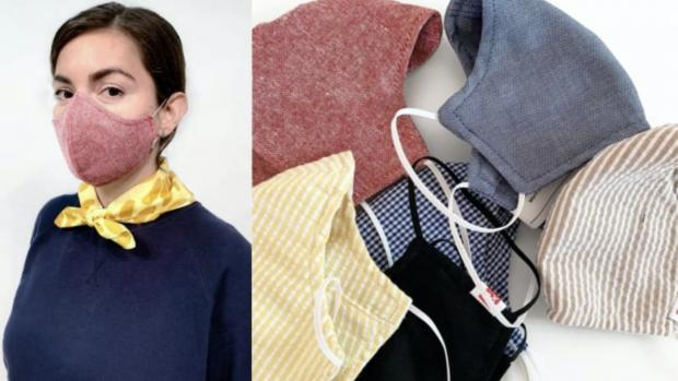 Western Telegraph: The tightly woven fabric masks are a great option. Credit: HEDLEY AND BENNETT