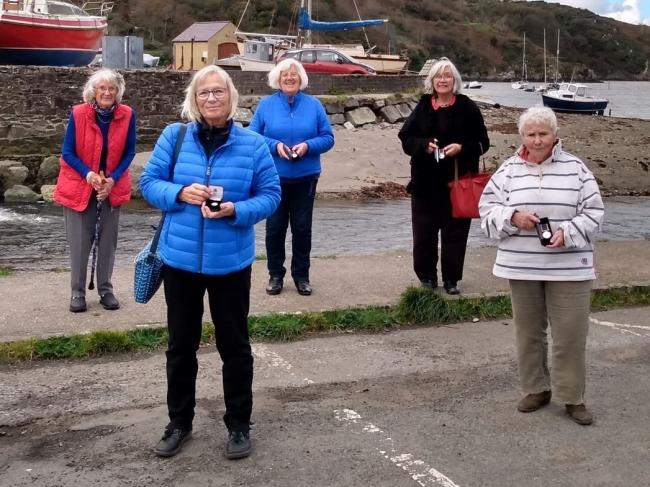 Rowena Sturdgess, Pam Davies, Delyth Lucas, Sylvia Hotchin and Sally Francis have all been awarded long service medals from the RNLI. Picture: Western Telegraph