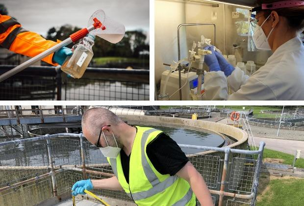 A Haverfordwest site is part of a pilot programme monitoring coronavirus in Wales' sewage systems. Pictures: Welsh Government