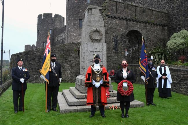 Remembrance service at Pembroke: Picture: Martin Cavaney