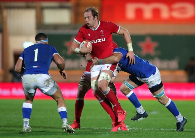LEADER: Alun Wyn Jones was forced off in Wales' win against Italy