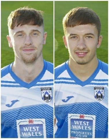 Haverfordwest County's Jack Wilson and Ben Fawcett