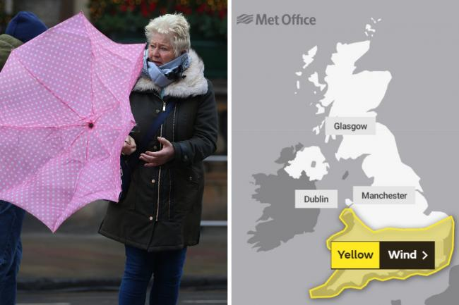 High winds forecast with Met Office warning extended into Tuesday morning. Photo Gordon Terris