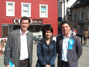 Stephen Crabb with Burmese democracy campaigner Waihnin and deputy chairman of the Conservative Human Rights Commission, Ben  Rogers