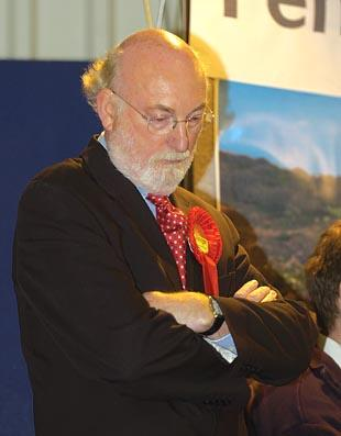 Long serving Labour MP, Nick Ainger, lost his seat to the Conservatives this morning