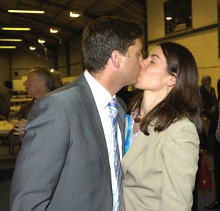 Stephen Crabb celebrates emphatic victory