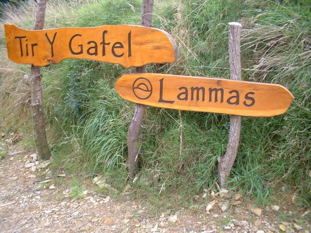 The Entrance Sign to the Lammas Project (photo by Andrew Lye)
