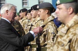 Royal Signals Regiment at St Davids