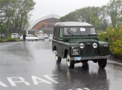 Pouring rain did not stop car enthusiasts turning up for the inaugural Preseli Bluestone Car Run in aid of the British Heart Foundation in June, 2011